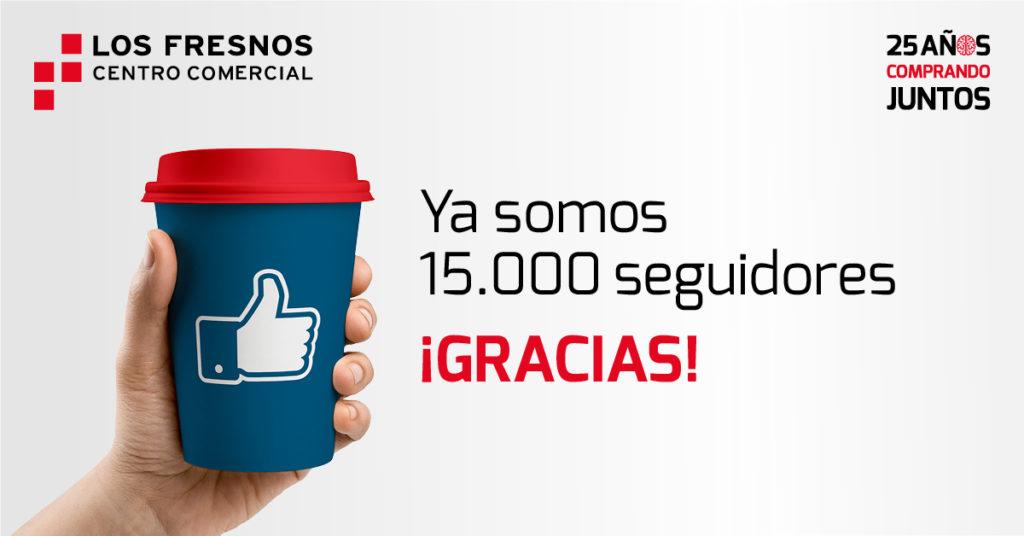 ¡Ya somos más de 15.000 seguidores en Facebook!