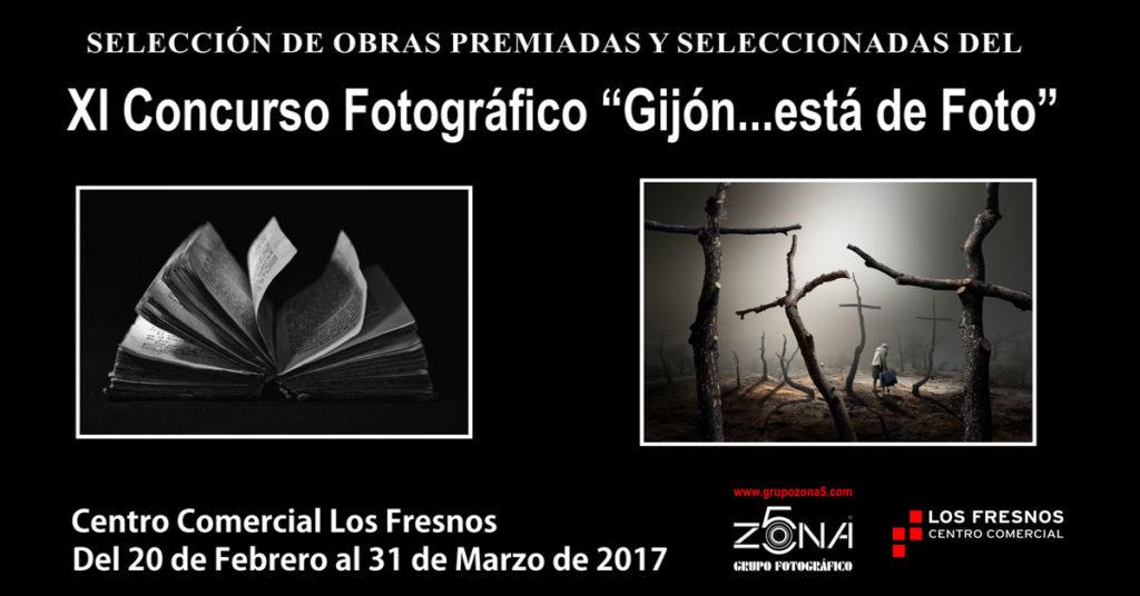 """Exposición XI concurso """"Gijon … está de foto"""" en Los Fresnos"""