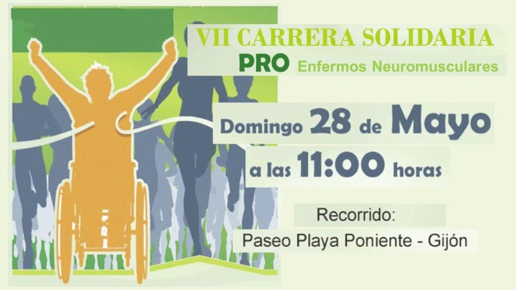 7º edición de la carrera solidaria pro enfermos Neuromusculares en Gijón