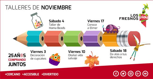 Ven a los talleres de Noviembre en PlayClub