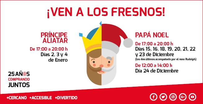 Papá Noel y el Príncipe Aliatar en el Centro Comercial Los Fresnos